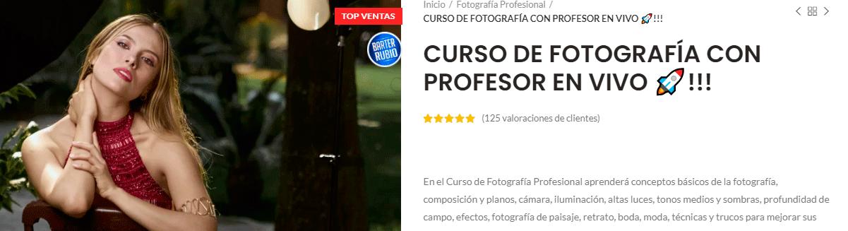 Cursos Online de Fotografía profesional